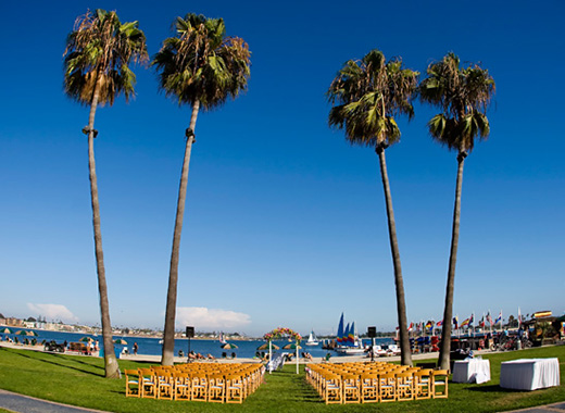 Wedding Ceremony at the Catamaran Resort in San Diego.