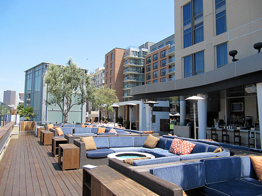Daytime cabanas at the rooftop Float at the Hard Rock Hotel San Diego.