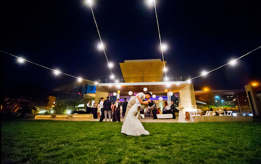 Bride and groom dancing the night away at Scripps Seaside.