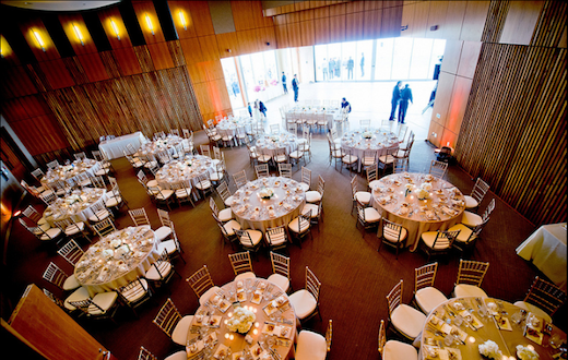 Dining room at the Scripps Seaside Forum.