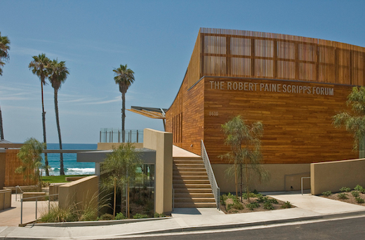 Outside view of the Scripps Seaside Forum.