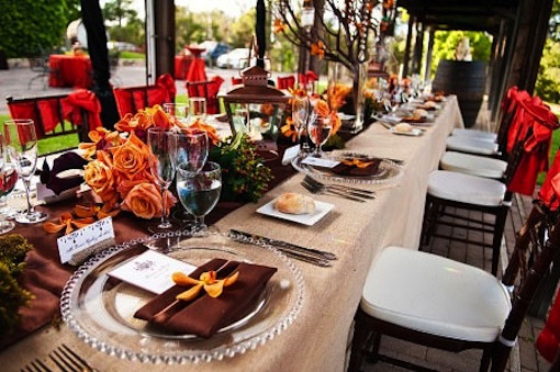 Table setting by Luxe Events.