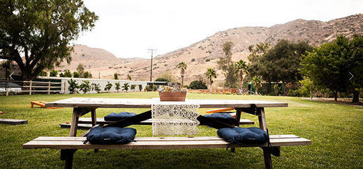 Wooden table in a farm at Bandy Canyon Ranch by Events Inspired San Diego.