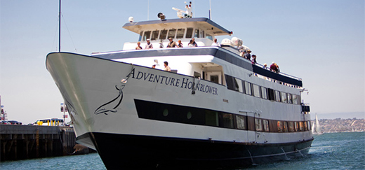The ship named Adventure at the Hornblower Cruises & Events in San Diego.
