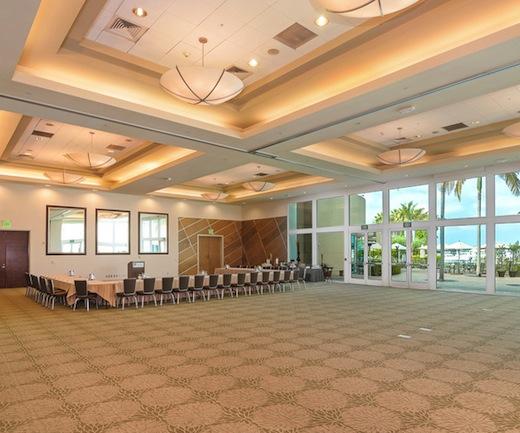 Main ballroom at The Dana Hotel On Mission Bay.
