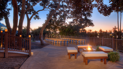 Outdoor event space at the Hyatt Regency Mission Bay Spa & Marina.