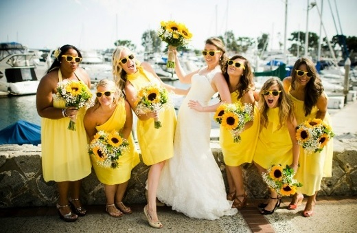 Bride and her bridesmaids by Shirock Photography.