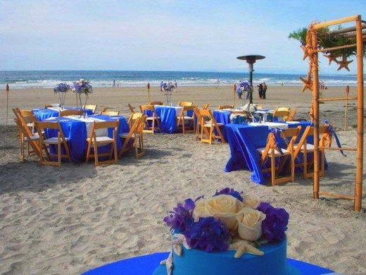 A beach wedding reception La Jolla Shores Hotel.