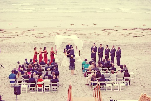Wedding on the beach at the La Jolla Shores Hotel.