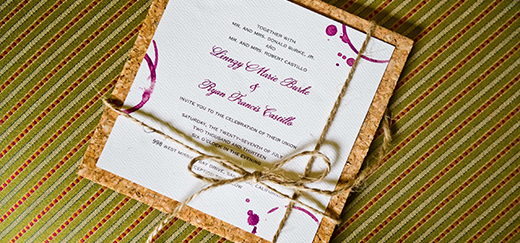 A paper invitation to a San Diego wedding. What do you think is better evites or paper invitations?