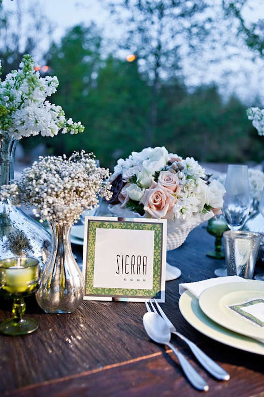 Wedding ceremony table decor decorated by Swann Soirees Wedding Planning in San Diego.