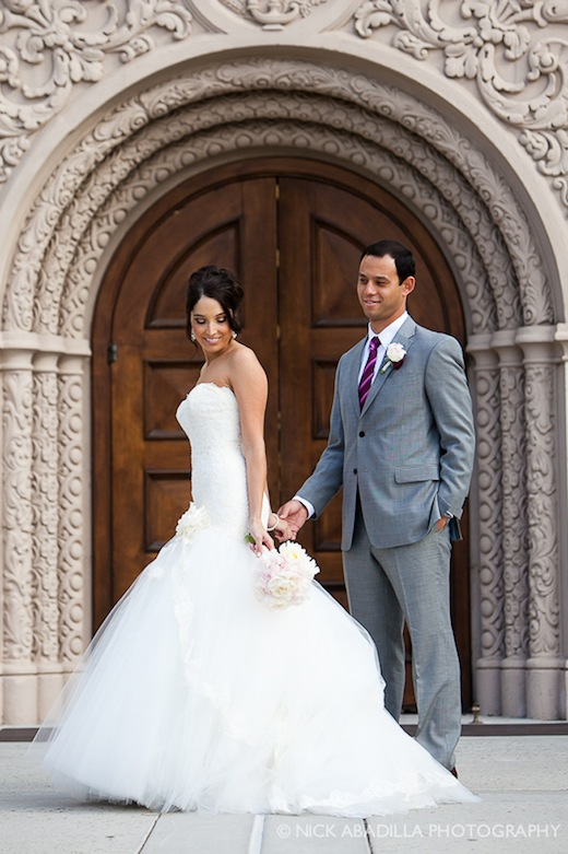Bride and Groom who hired Swann Soirees Wedding Planning as their wedding planner in San Diego.