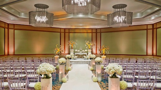 Aisle at wedding ceremony at the Westin San Diego