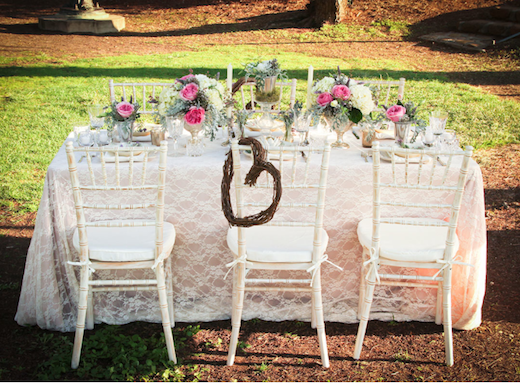 Outdoor table setting by Silhouette Event Planning and Design.