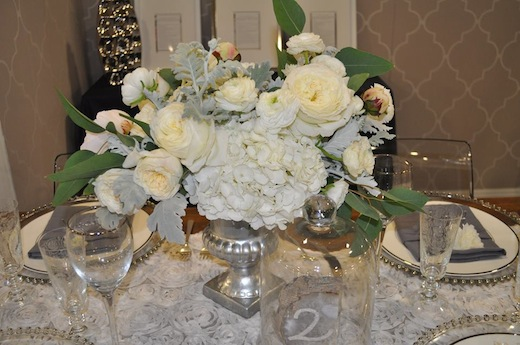 Floral arrangement designed by Silhouette Event Planning and Design.