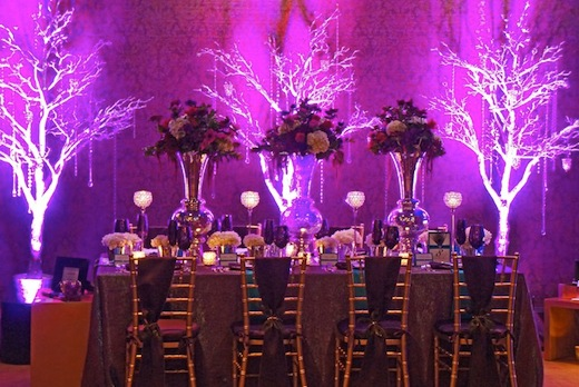 Lighting at an event by Brilliant Event Design.
