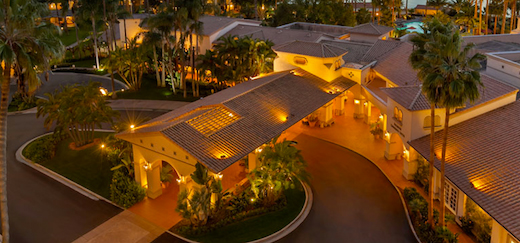 Birds eye view of the Hilton San Diego Resort & Spa.