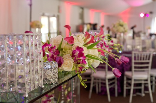 The floral arrangements at the Pav wedding at the Hilton San Diego Resort & Spa.