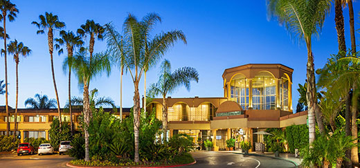 Front view of the Handlrey Hotel San Diego.