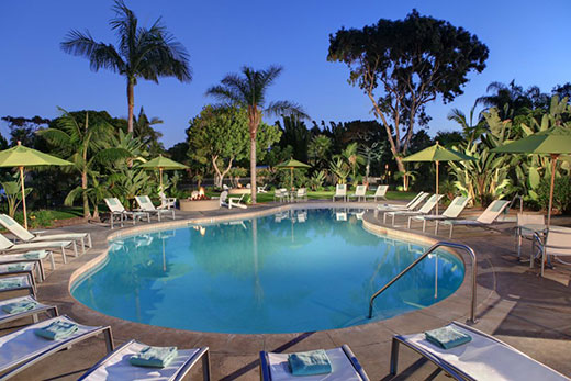 One of the pools at Paradise Point
