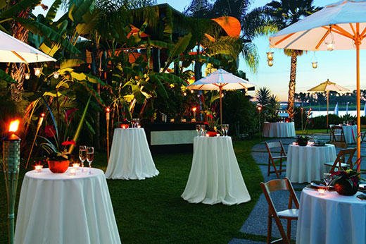 Tropical theme event at Paradise Point