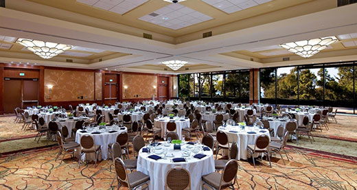 One of the ballrooms at Hilton La Jolla Torrey Pines