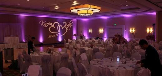 Monogram event lighting
