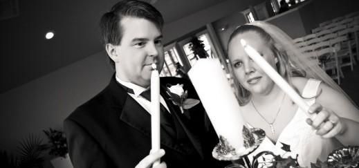 Unity candle at wedding
