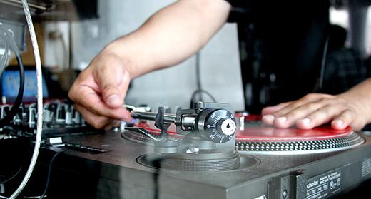 DJ Playing a Record