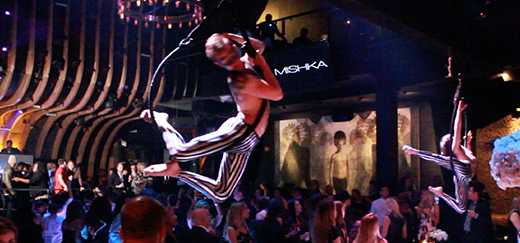 Aerialists Performing at an Event